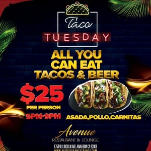 All You Can Eat Taco Tuesday