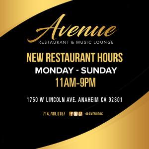 Avenue Restaurant Hours