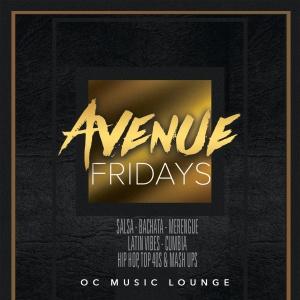 Avenue Fridays, Friday, November 2nd, 2018