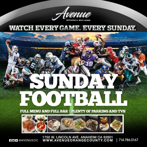 Sunday Football - Avenue Restaurant & Music Lounge