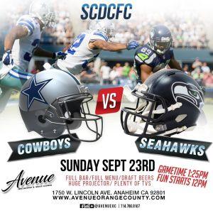 Sunday Football, Sunday, September 23rd, 2018