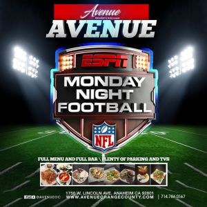 Monday Night Football, Monday, October 15th, 2018