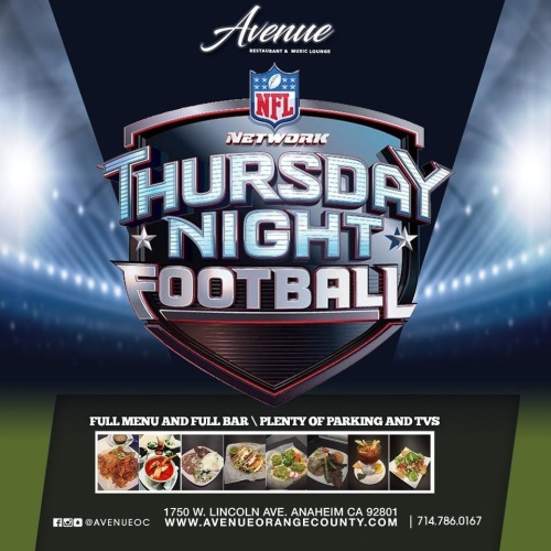 Thursday Night Football - Avenue Restaurant & Music Lounge