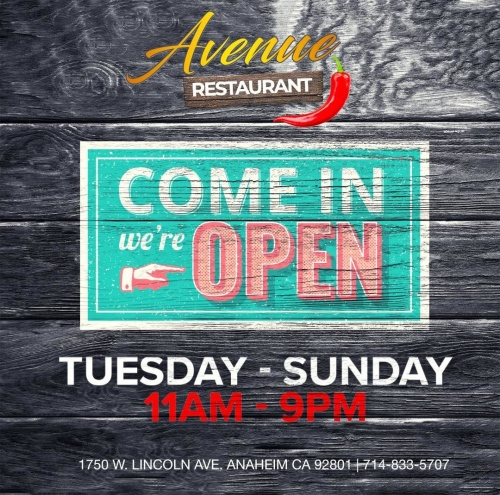 Restaurant Hours - Avenue Restaurant & Music Lounge