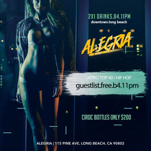Alegria Friday, Friday, February 1st, 2019