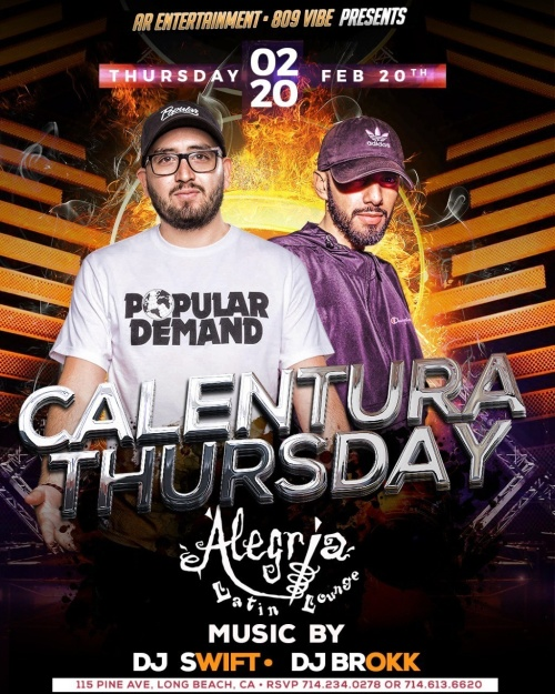 Calentura Thursday - Alegria Cocina Latina