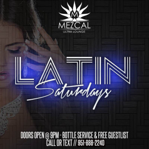 Latin Saturday's, Saturday, May 9th, 2020