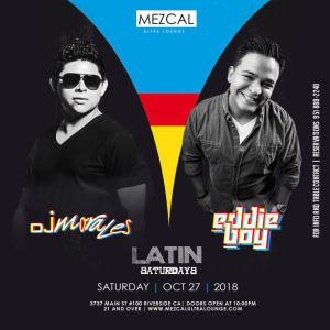 Latin Saturdays, Saturday, October 27th, 2018