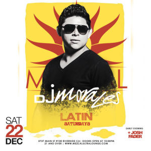 Latin Saturdays, Saturday, December 22nd, 2018