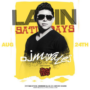 Latin Saturday, Saturday, August 24th, 2019