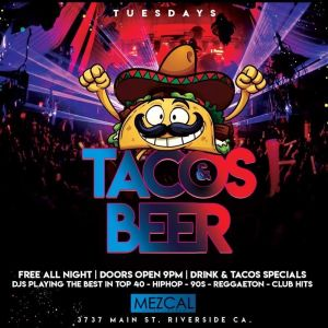 Tacos and Beer, Tuesday, October 1st, 2019