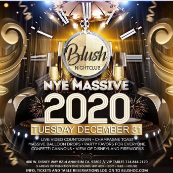 New Years Eve 2020 - Tue Dec 31