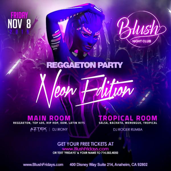 Mega Fridays Neon Edition Blush Nightclub