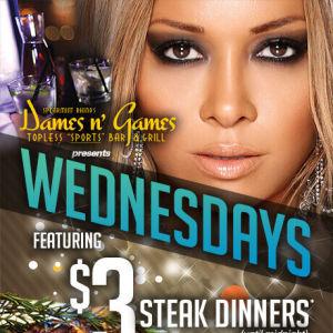 WEDNESDAY STEAK DINNERS, Wednesday, September 19th, 2018