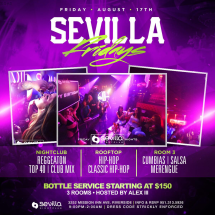 Sevilla Fridays | 3 Rooms of Entertainment
