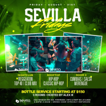 Sevilla Fridays | 3 rooms of Entertainment