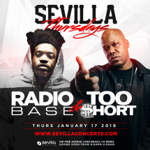 TOO SHORT & RADIO BASE LIVE