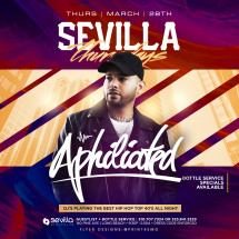Sevilla Thursdays Presents DJ Aphiliated