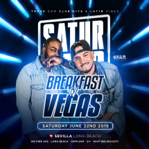 SoldOutSaturdays with special guests BREAKFAST N VEGAS