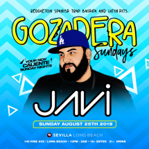 LA GOZADERA your new caliente Sunday Nights with DJ JAVI