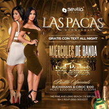 LAS PACAS this and every Wednesday Night with BANDA LOS PLEBES DE SINALOA