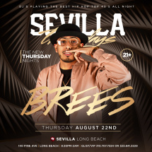 The New THURSDAYS NIGHTS with DJ BREES spinning THE BEST HIP HOP