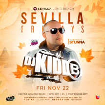 SEVILLA FRIDAYS WITH DJ KIDDB