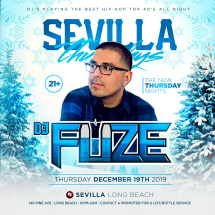 SEVILLA THURSDAYS - HIPHOP NIGHTS WITH DJ FUZE