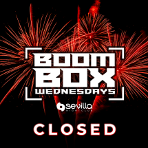 BOOM BOX WEDNESDAYS - CLOSED