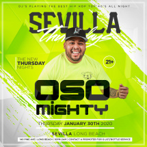 HIP HOP NIGHTS WITH DJ OSO MIGHTY