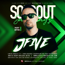 SOLDOUT SATURDAYS with DJ JFIVE