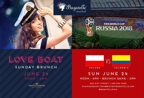 FIFA World Cup & Love Boat Brunch - Bagatelle Miami
