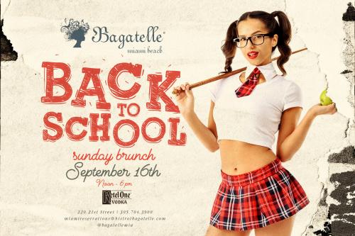 Back to School Sunday Brunch - Bagatelle Miami