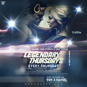 Legendary Nights, Thursday, September 27th, 2018