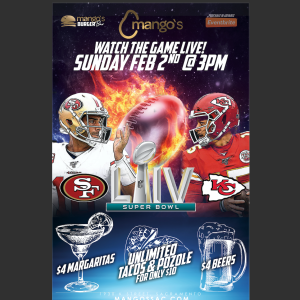 Super Bowl Watch Party, Sunday, February 2nd, 2020