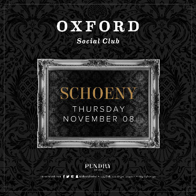 Oxford Social Club: Schoeny, Thursday, November 8th, 2018