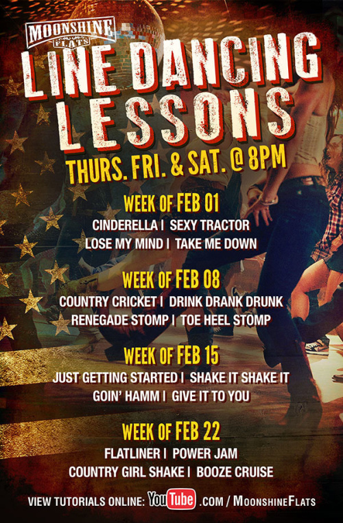 Line Dancing Lessons at Moonshine Flats - Moonshine Flats