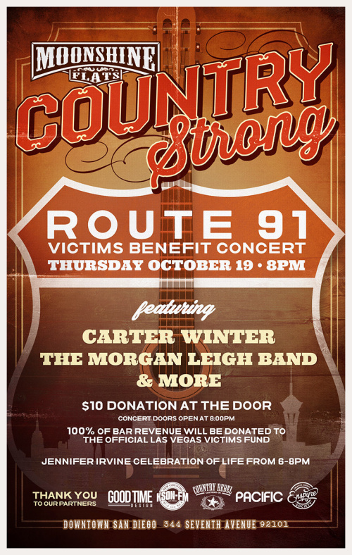 Country Strong Route 91 Victims Benefit Concert at Moonshine Flats - Moonshine Flats