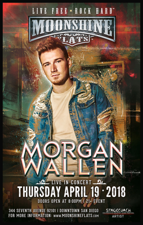 Morgan Wallen LIVE in Concert at Moonshine Flats - Moonshine Flats