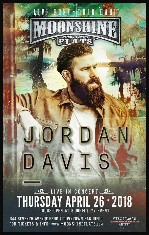 Jordan Davis LIVE in Concert at Moonshine Flats - Moonshine Flats