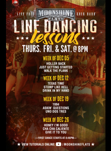 Line Dancing Lessons at Moonshine Flats