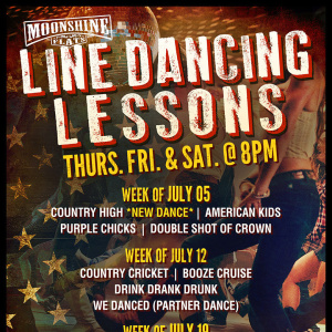 Line Dancing Lessons at Moonshine Flats