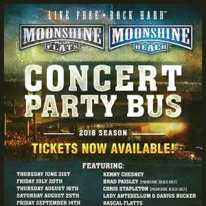 Moonshine FLATS- Party Bus to Dierks Bentley with LANco, Friday, October 12th, 2018