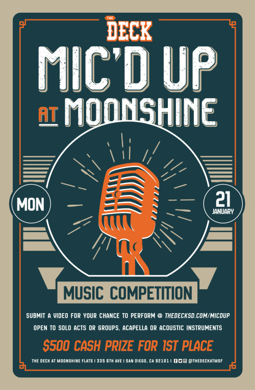 Mic'd Up Singing Competition at The Deck at Moonshine Flats - Moonshine Flats