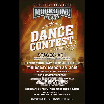 Stagecoach Dance Contest at Moonshine Flats, Thursday, March 28th, 2019