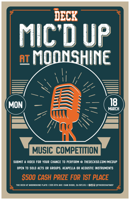 Mic'd Up Music Competition at The Deck - Moonshine Flats