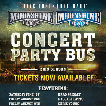 Party Bus to Brad Paisley, Chris Lane and Riley Green from Moonshine FLATS