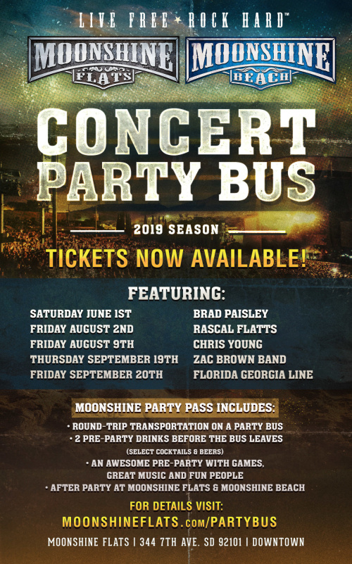 Party Bus to Chris Young with Chris Janson from Moonshine FLATS - Moonshine Flats