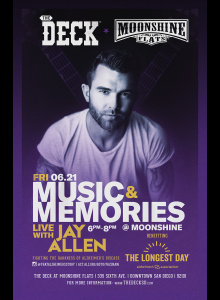 Jay Allen Live with Music and Memories at The Deck at Moonshine Flats