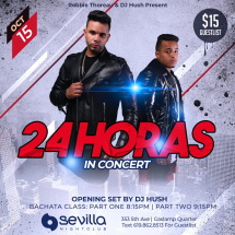 24 Horas in Concert at Bachata Tuesdays